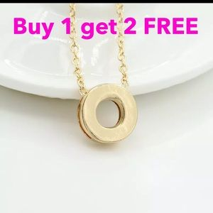 Jewelry - DIY letter initial name letter  O necklace